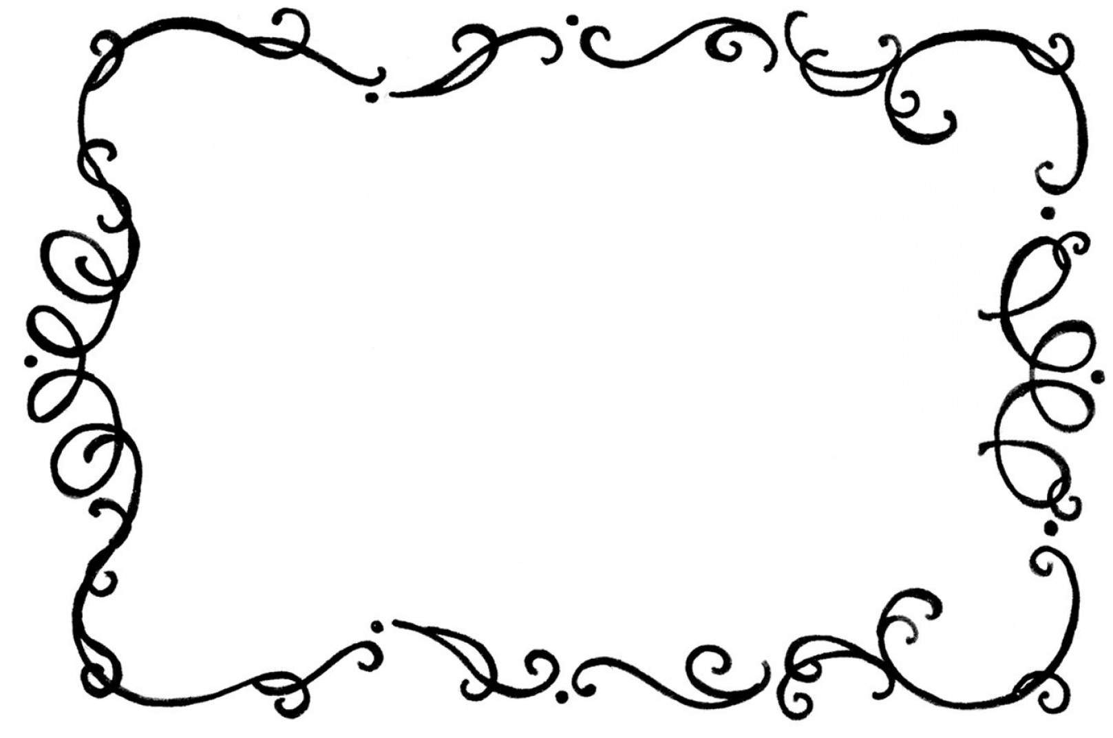 Free Flourish Frame Vector Fancy Border Clipart A