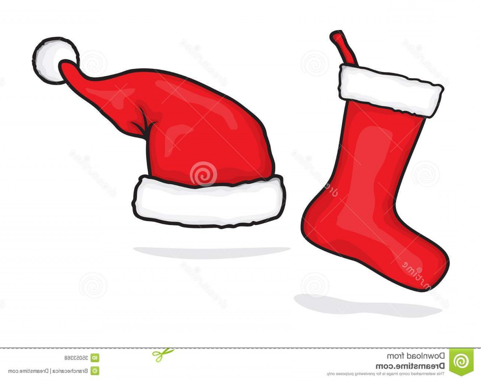 Stocking Hat Vector: Fancy Royalty Free Stock Photos Red Santa Hat Christmas Stocking Vector Illustration Image