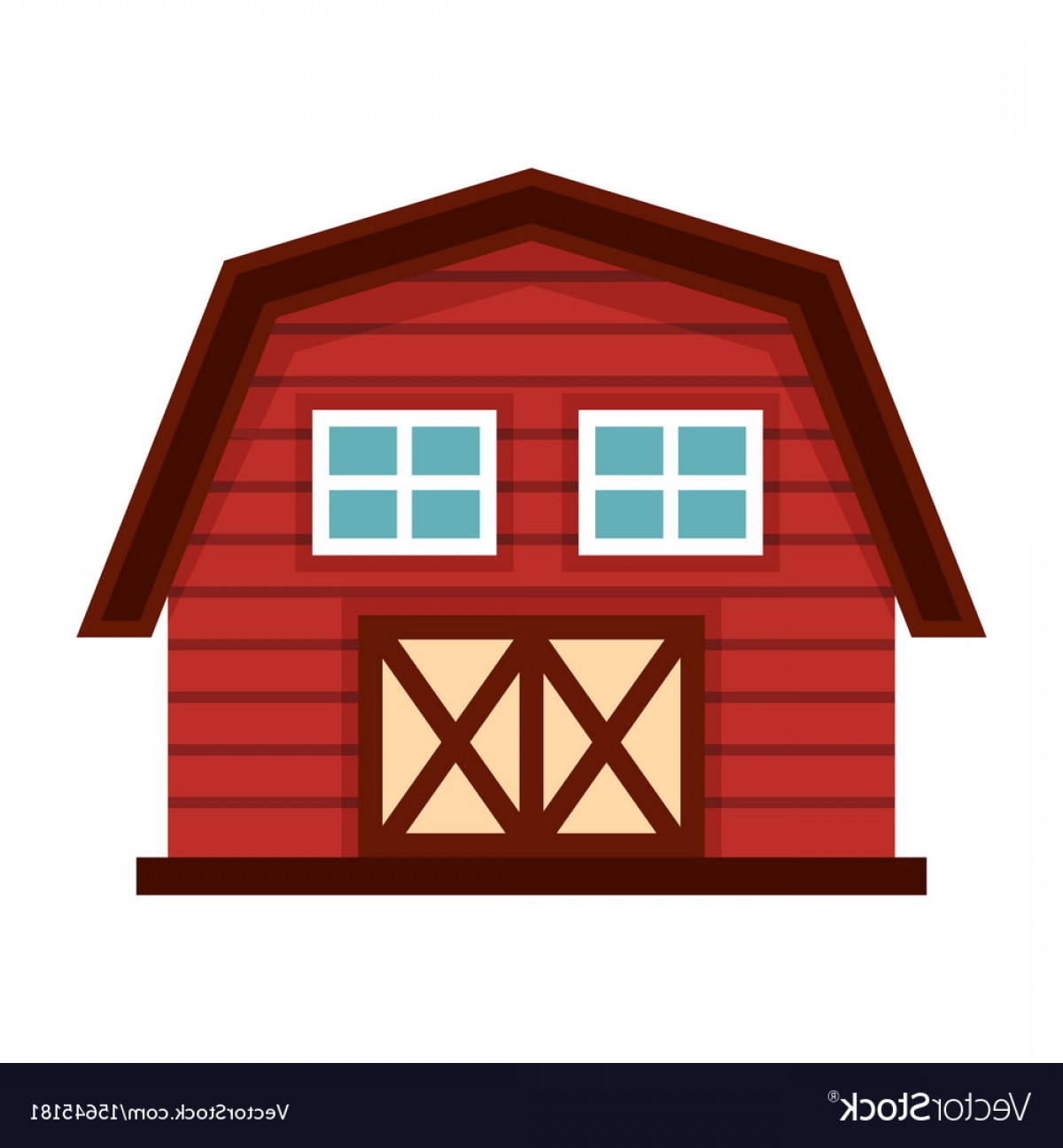 Shed PNG Vector: Farm House In Cartoon Style Isolated On White Vector