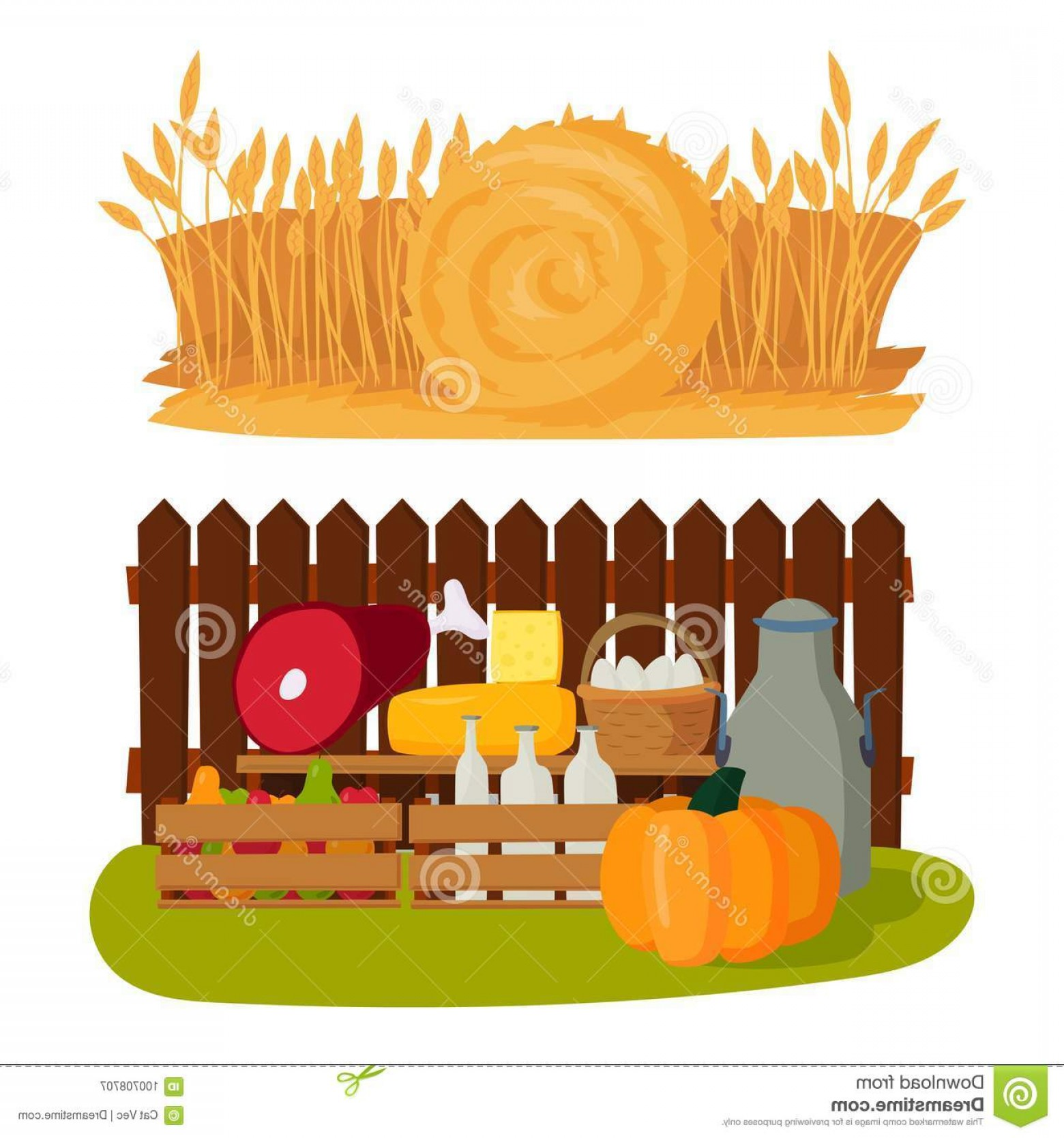 Farm Vector Illustration: Farm Vector Illustration Nature Food Harvesting Grain Agriculture Growth Cultivated Design Icon Different Harvest Modern Flat Image