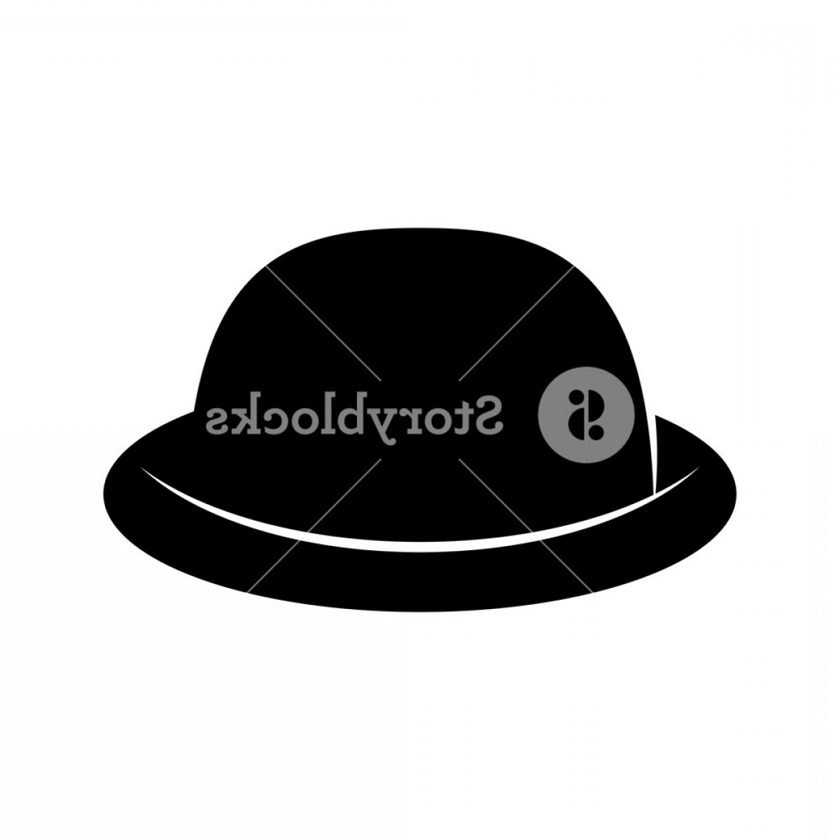 Bowler Hat Vector: Fashion Hat Womens Black Hat Lady Retro Hat Vector Illustration H Gkljhfwfjdoek