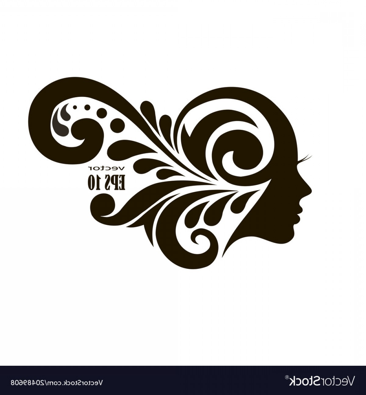 Beautiful Patterns Vector: Fashion Icon Young Woman With Beautiful Patterns Vector