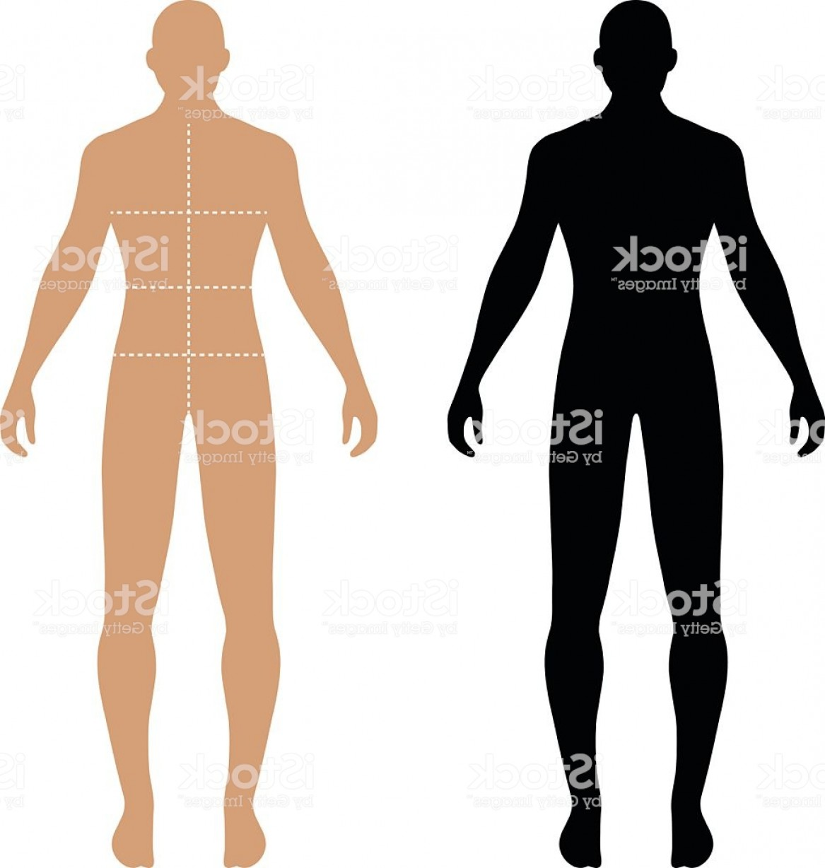 Male Human Vector: Fashion Man Solid Template Figure Silhouette Gm
