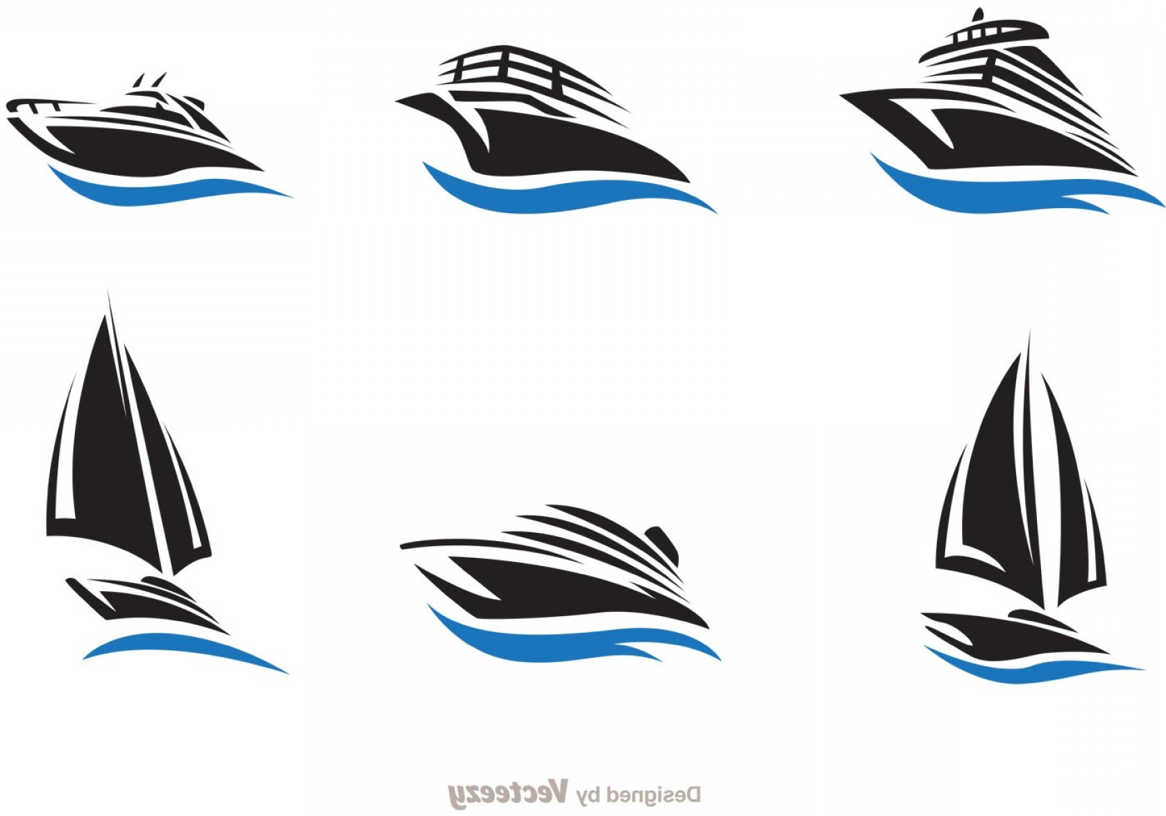 Boat Vector Art Graphics: Fast Ship And Boat Vector Set