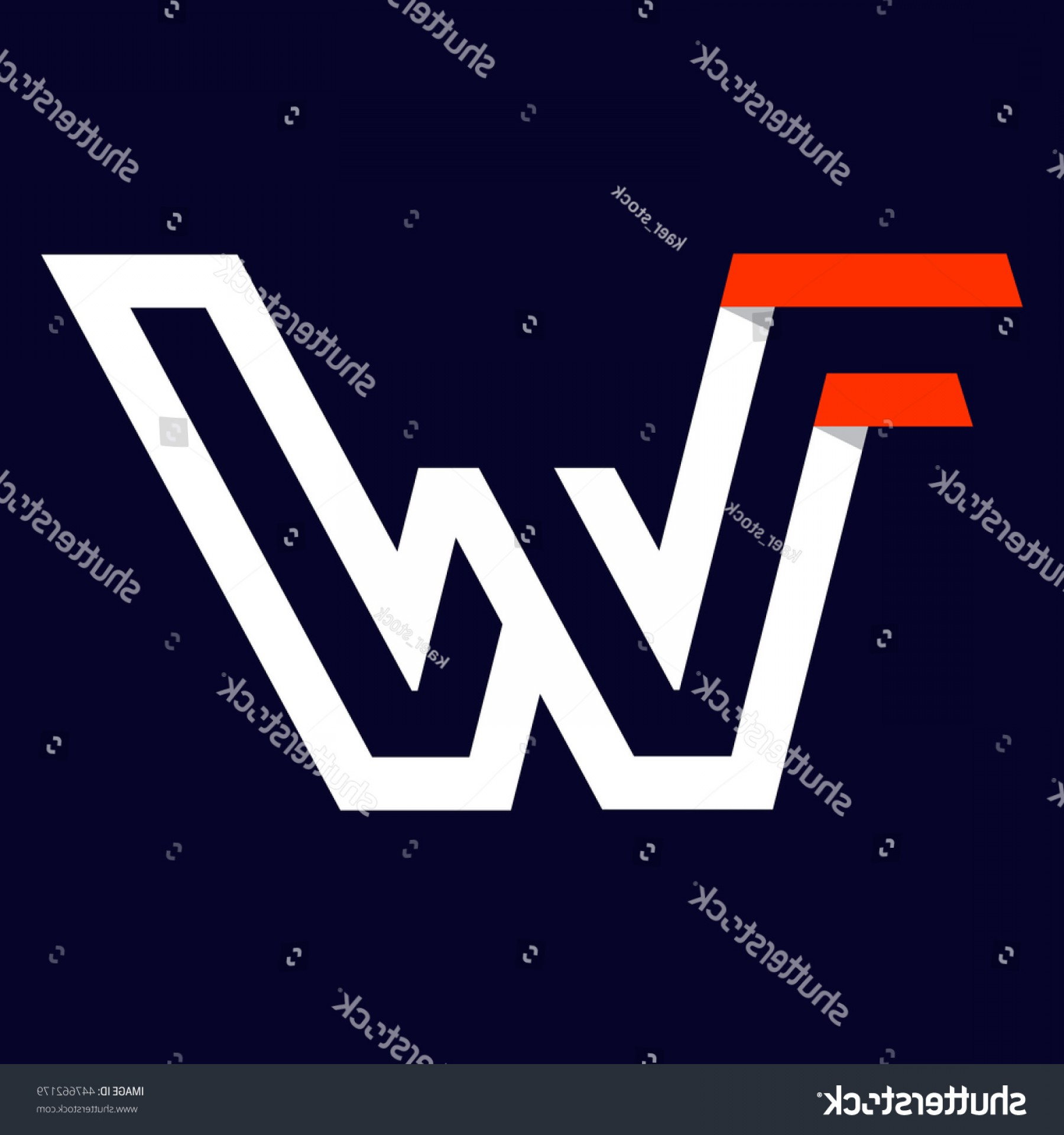 Vector Swoosh Simple Two Line: Fast Speed Two Lines Letter W