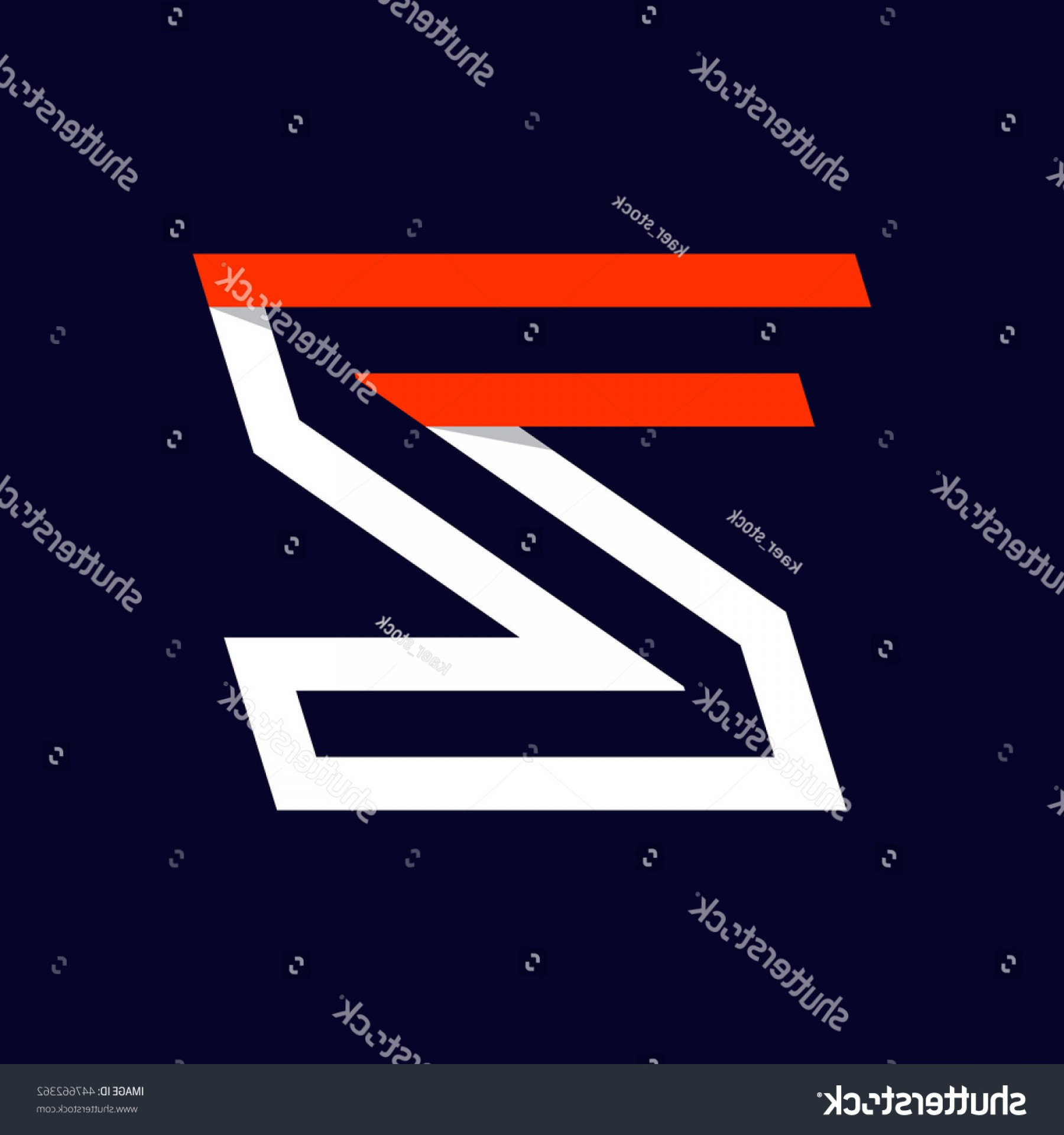 Vector Swoosh Simple Two Line: Fast Speed Two Lines Letter Z