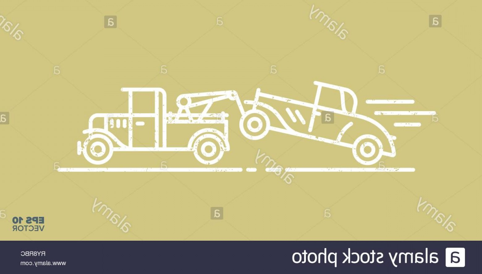 Towing Truck Hook Vector: Fast Tow Truck With Car On Hook Cartoon Icon Vector Illustration Image