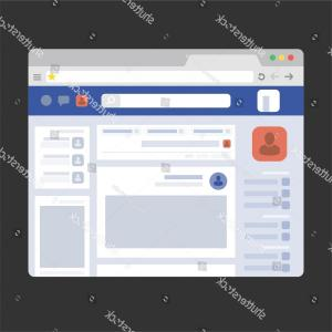 Vector Chrome Browser: Facebook Web Page Browser Concept Social