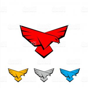 Falcon Wing Vector Art: Emblem Wings Of Falcon And Propeller On The White Background Gm