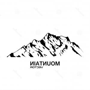Mountain Range Silhouette Vector Free: Attractive Photostock Vector Highlands Mountains Vector Silhouettes With Snow Capped Peaks And Hillsides Snow Mountain Summit Ill