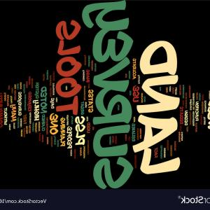 Tools For Text Vector: Fancy Land Survey Tools Text Background Word Cloud Vector