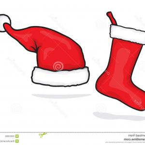 Stocking Hat Vector: Adorable Naughty And Nice Santa Hats And Christmas Stocking Collection Gm