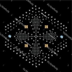 Gold Dot Embellishment Vector: Fashion Apparel Artwork Embellishment Vector