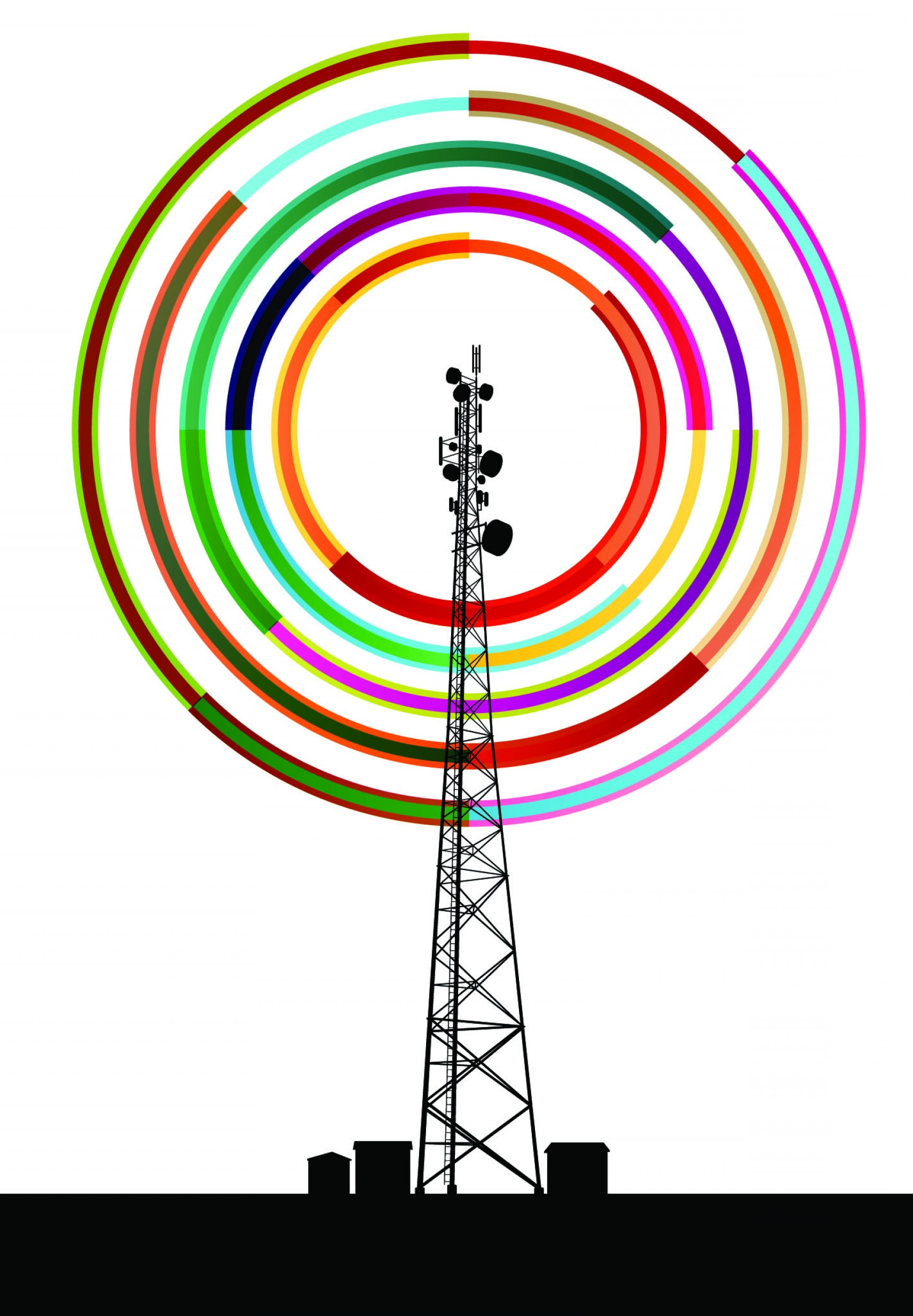 Vector Phone Tower: Fcc Equalizes Pole Attachment Rates For Telecom And Cable Companies