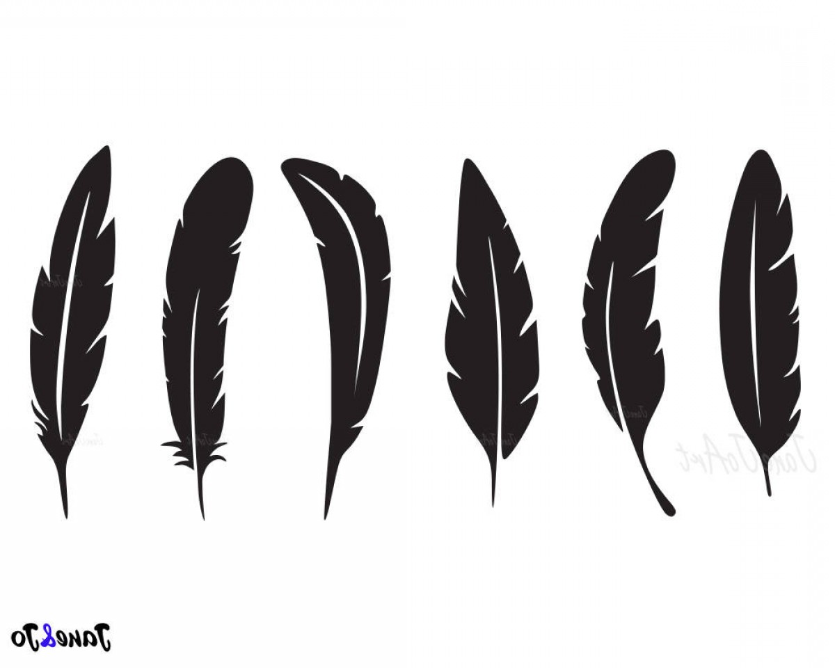 Vector Boho Arrow Strength: Feather Svg Feathers Svg Feather Clipart