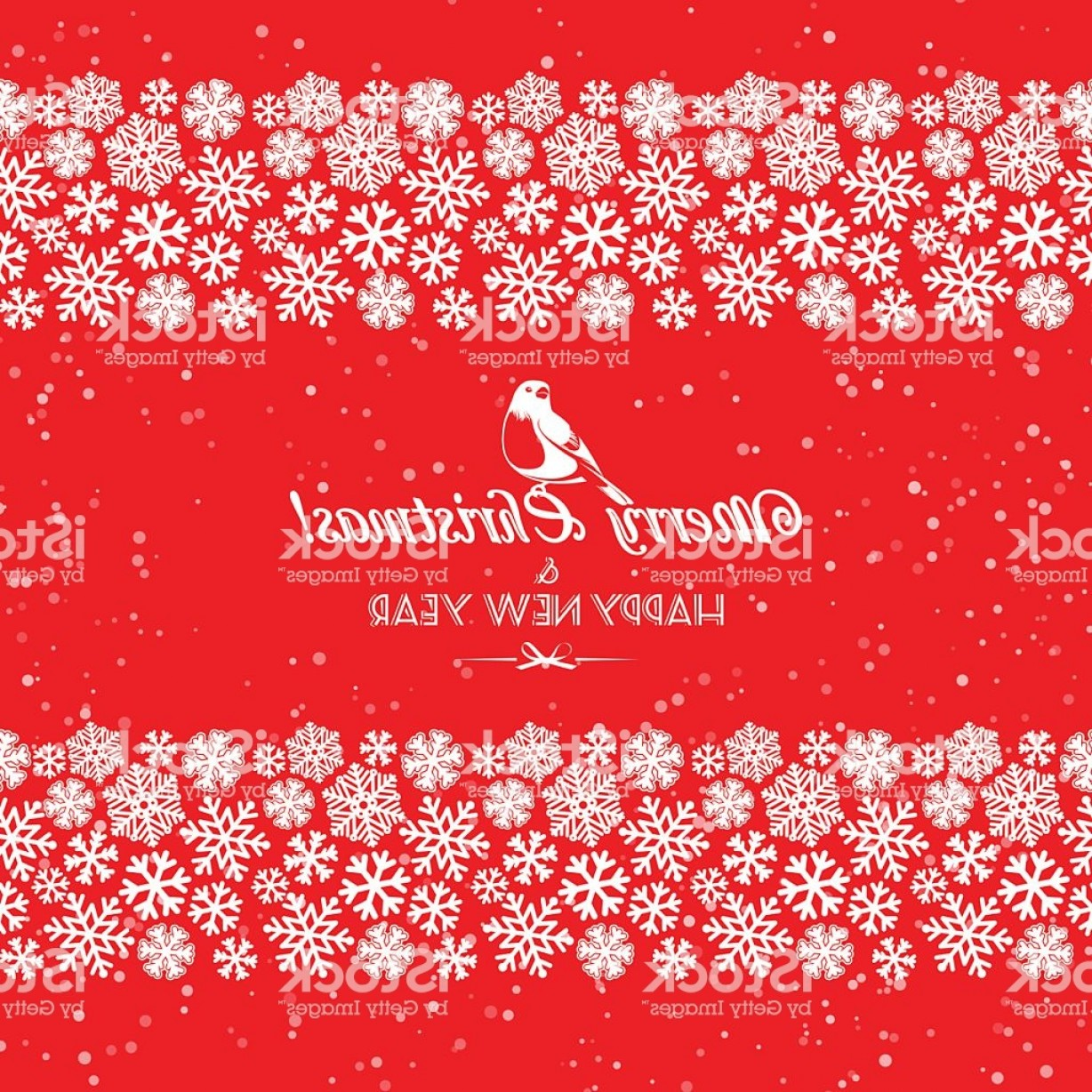 Snowflake Border Vector Art: Festive Christmas And New Year Seamless Snowflakes Borders Gm
