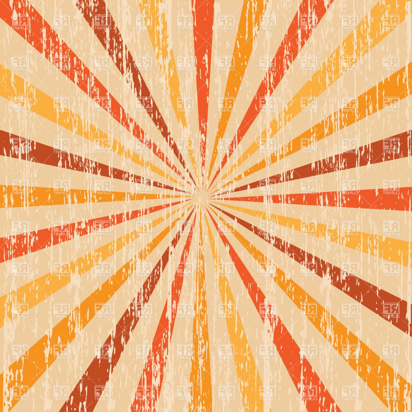 Abstract Vector Backgrounds For Photoshop: Festive Shabby Background With Red And Orange Rays Vector Clipart