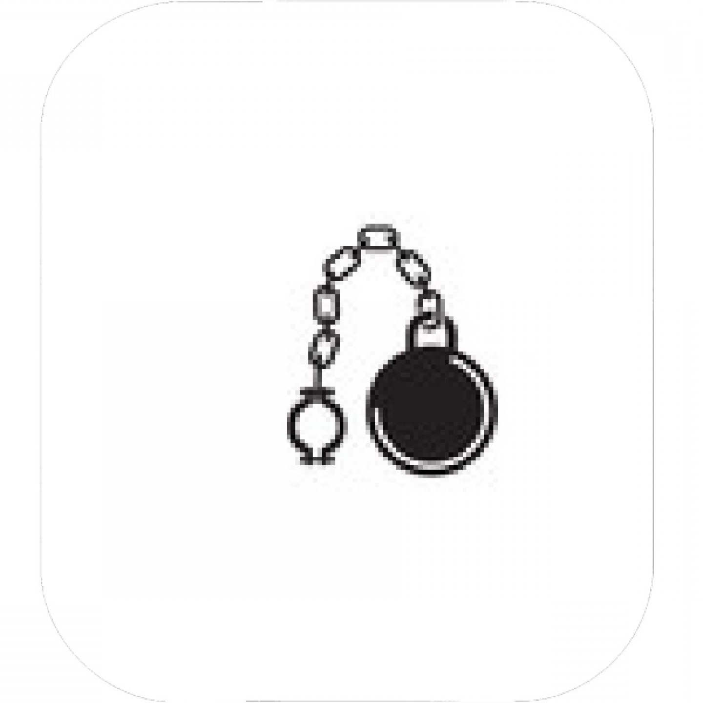 Chain And Lock Glove Vector: Fetter With Chain And Ball Vector Icon