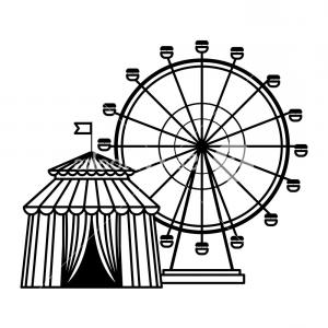 Black And White Circus Tent Vector: Ferries Wheel Icon And Circus Tent Black And White Vector Illustration Graphic Design Rrkmfgw Ejqafr
