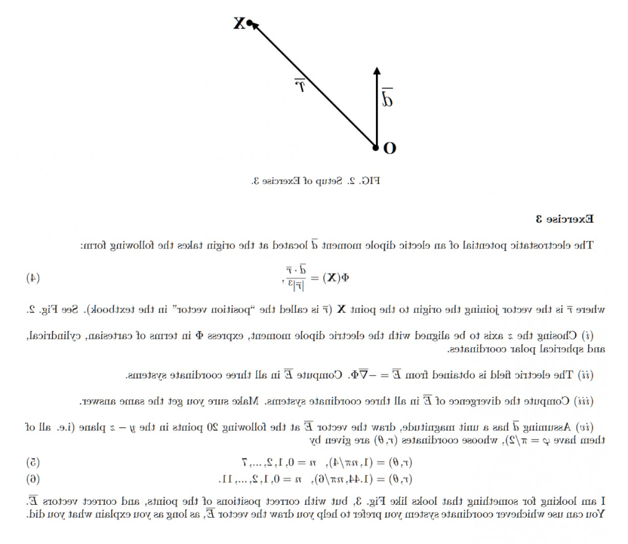 Electric Potential Is A Vector: Fig Setup Exercise Exercise Electrostatic Potential Electic Dipole Moment D Located Q