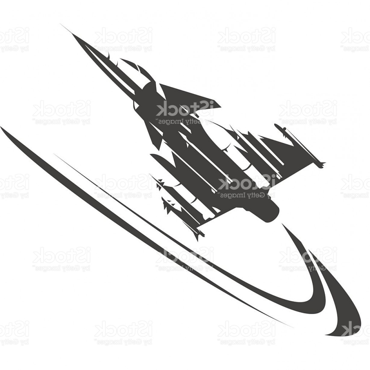 Vector Jet Fighter: Fighter Jet Performing An High Speed Curve Gm