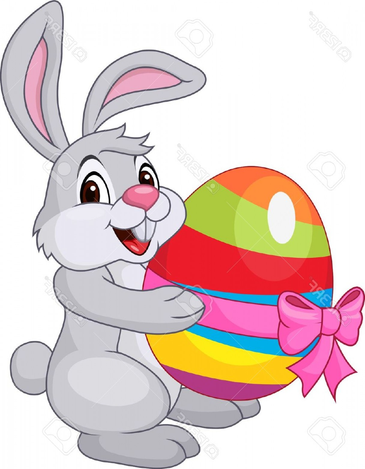 Image Vector Clip Art Bunny Bunny: File Cute Rabbit With Easter Egg Stock Vector Easter Bunny Cartoon