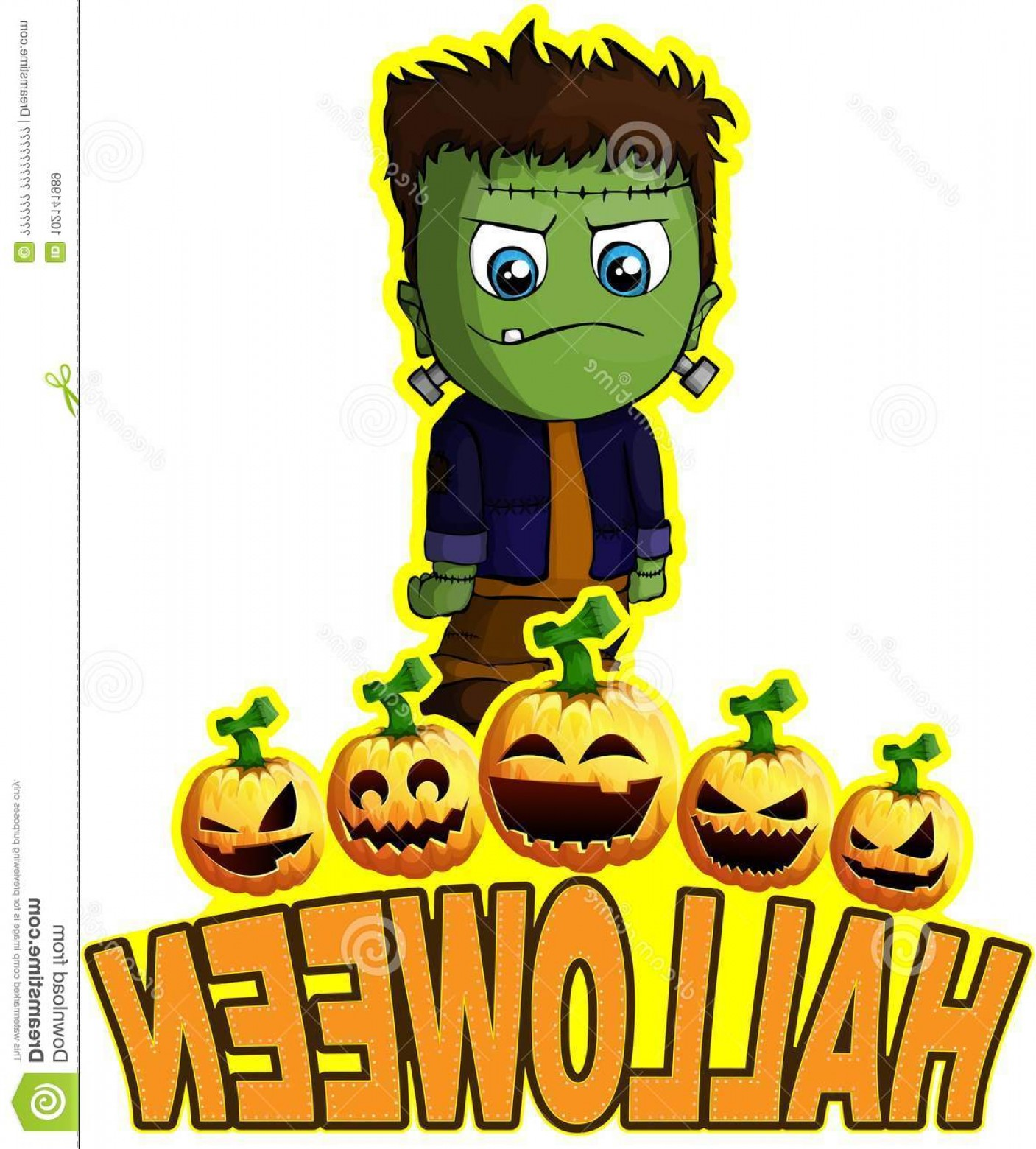 Frankenstein Vector Poster: File Layers Editable All Objects Drawn Separately Halloween Poster Frankenstein Image