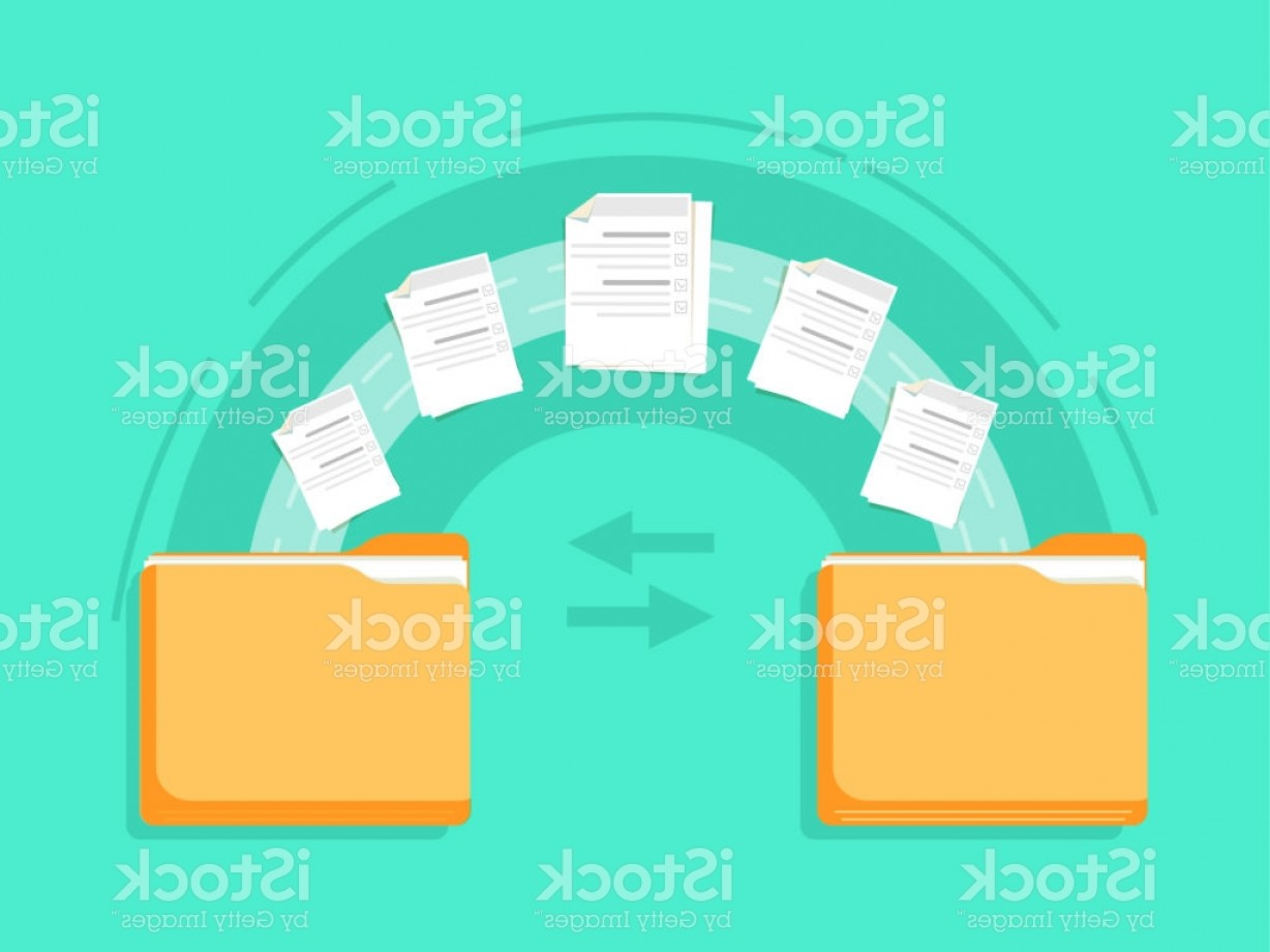 Vector Data Exchange: File Transfer Two Folders Transferred Documents Copy Files Data Exchange Backup Pc Gm