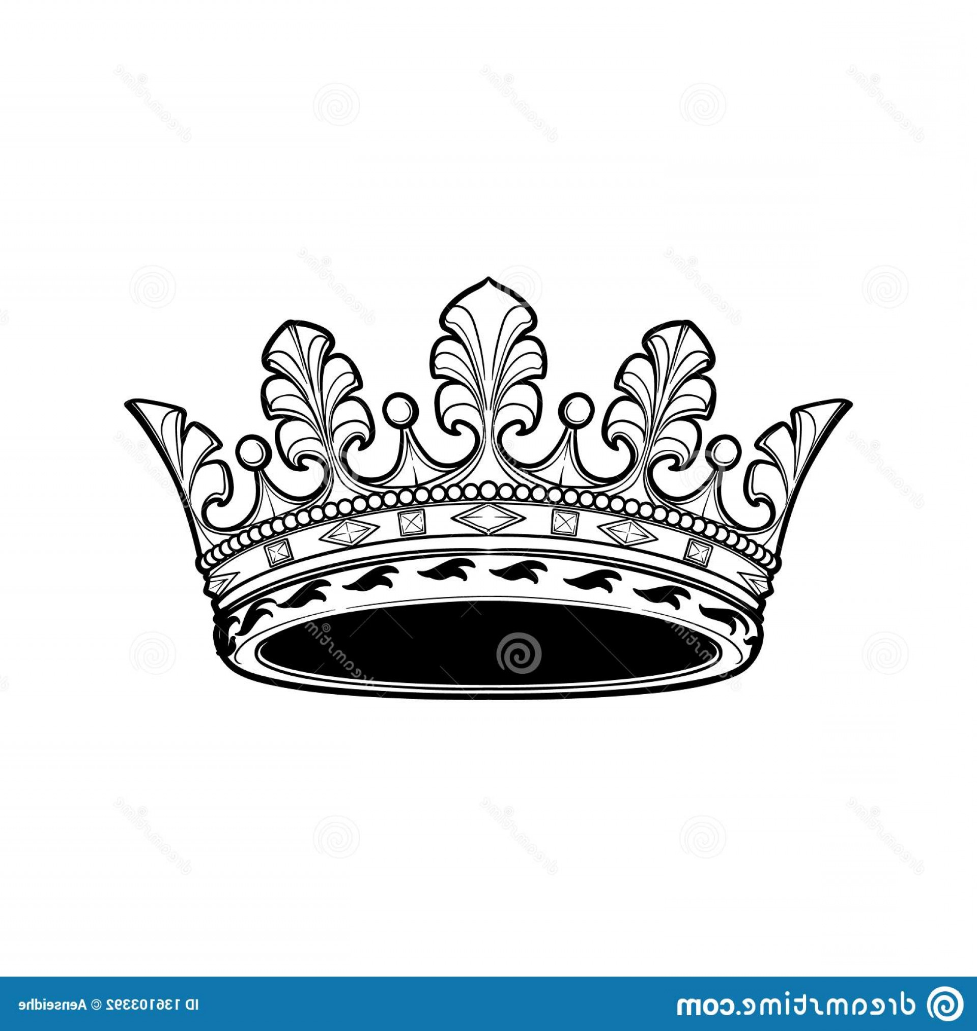 Detailed Tattoo Vector Images: Filigree High Detailed Ducal Crown Element Design Logo Emblem Tattoo Vector Illustration Isolated White Background Image