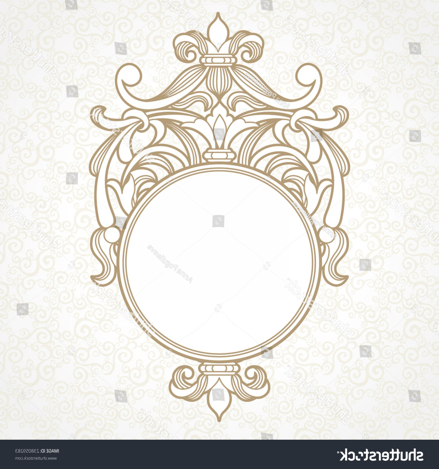 Filigree Oval Frame Vector: Filigree Vector Frame Victorian Style Ornate