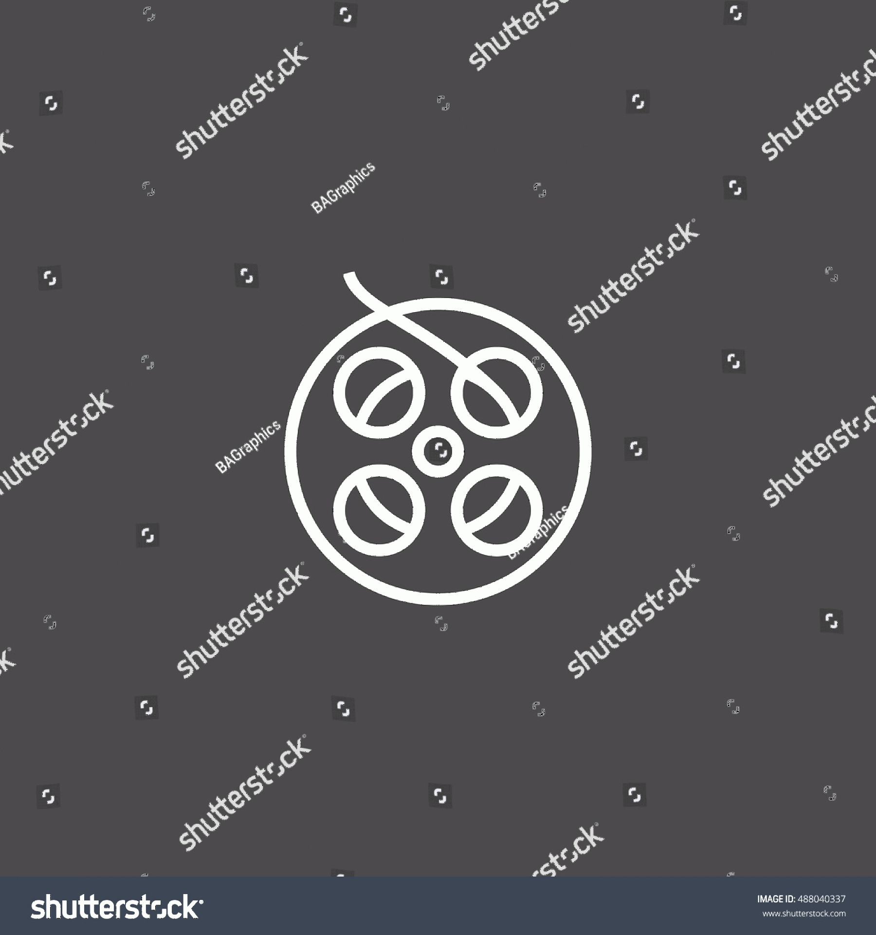 Symbol Vector Clip Art: Film Reel Icon Vector Clip Art