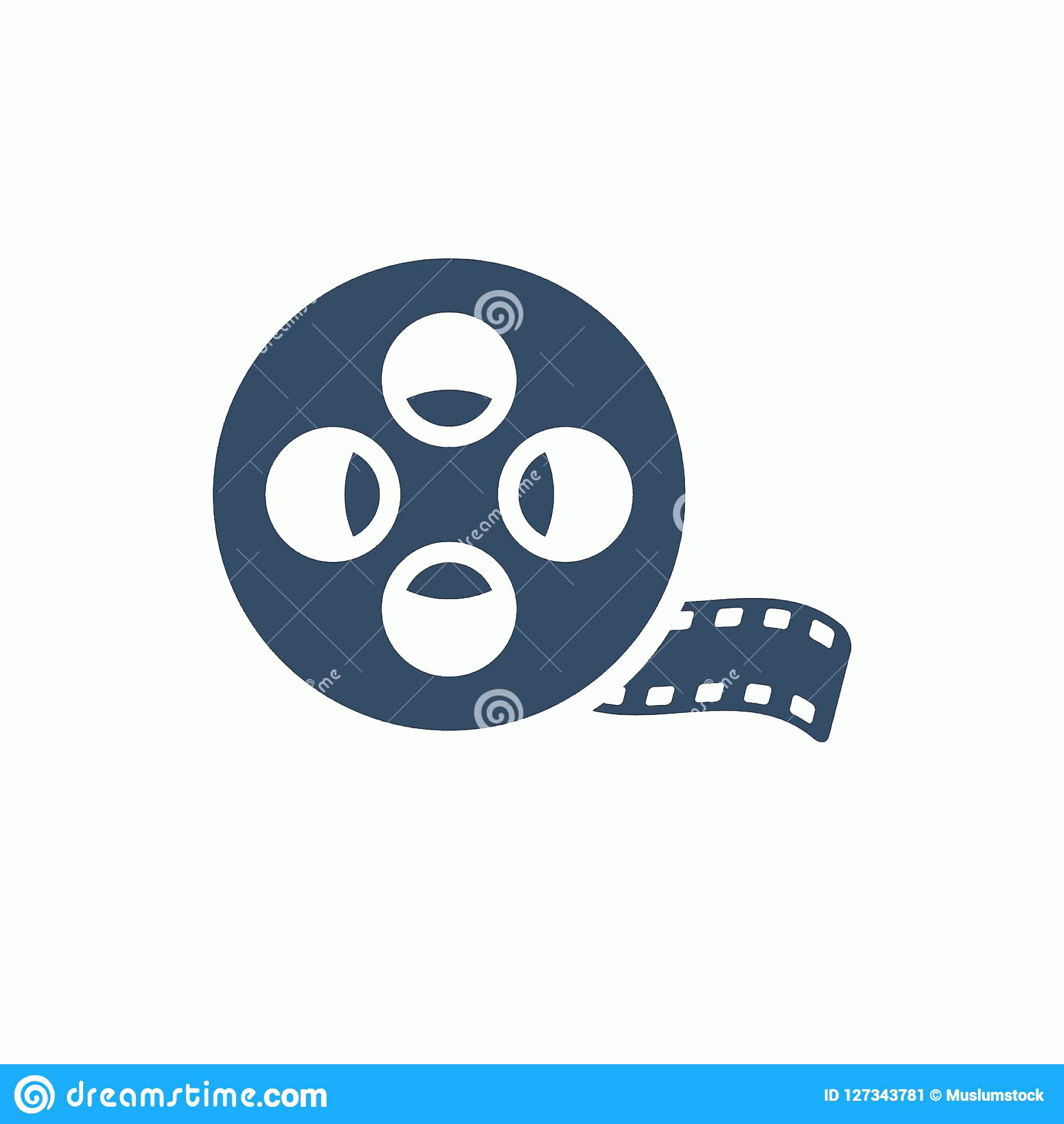 R Transparent Background Vector: Film Reel Vector Icon Isolated Transparent Background R Transparency Concept Can Be Used Web Mobile Image