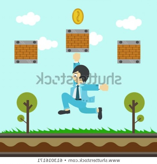 Vector Applications On Computers: Financial Games Collect Coin Game Mobile