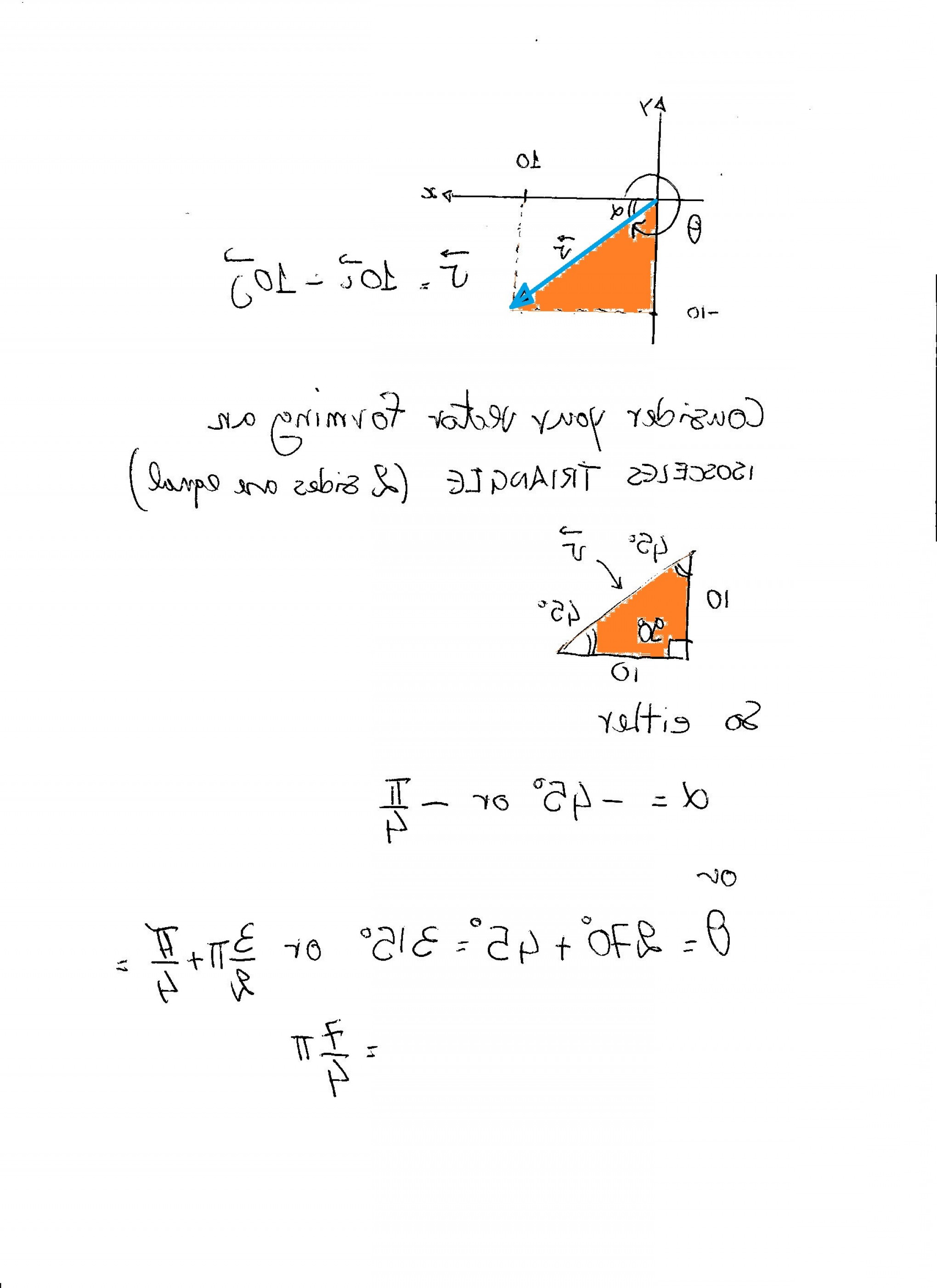 Pre-Calc Vector Representation: Find The Direction Angle Of The Vector V I J