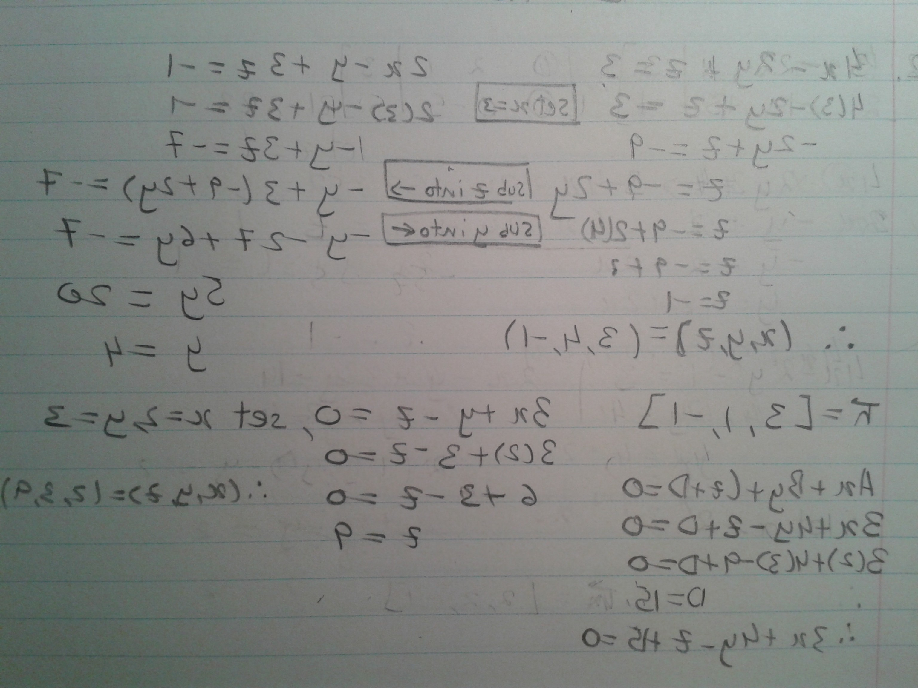 Point Of A Unit Normal Vector A Vector Intersects: Find The Equation Of The Plane That Passes Through The Line Of Intersection Of T
