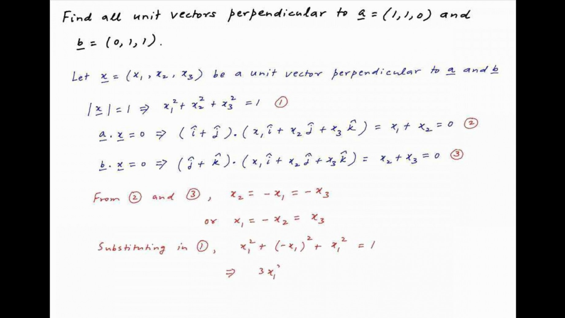 Unit Vectors Orhogonal: Find Two Unit Vectors Orthogonal To Both New Stewart Calculus E Solutions Chapter Vectors And The Geometry Of