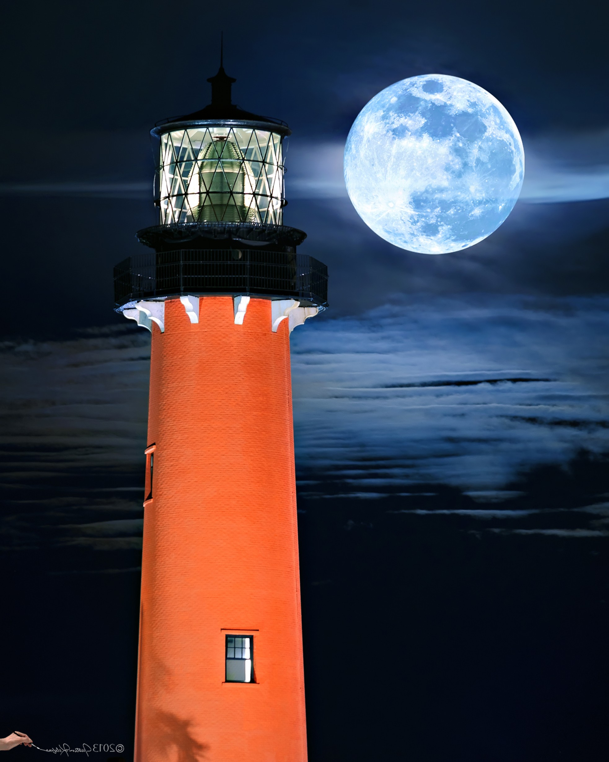 Jupiter Lighthouse Vector: Fine Art Landscape Photography By Justin Kelefas