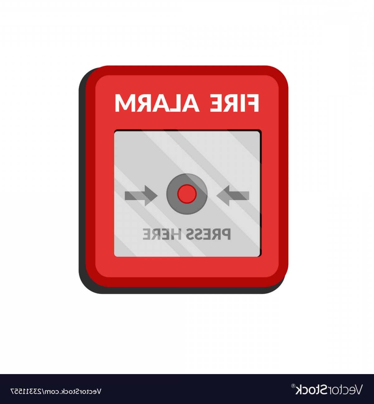 Fire Alarm Vector: Fire Alarm System Press Button Fire Safety Box Vector