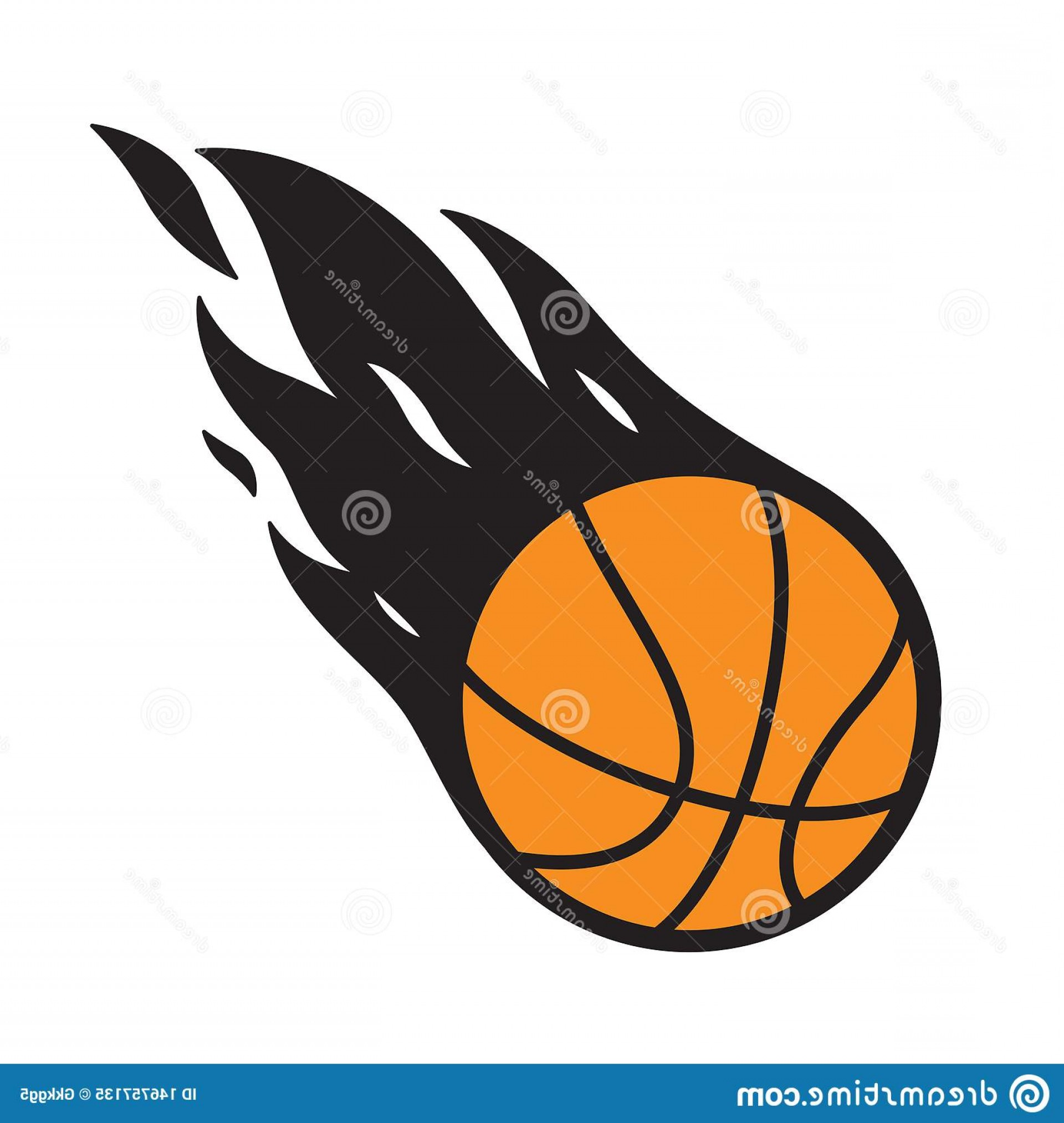 Cartoon Basketball Vector: Fire Chicken Vector Seamless Pattern Image