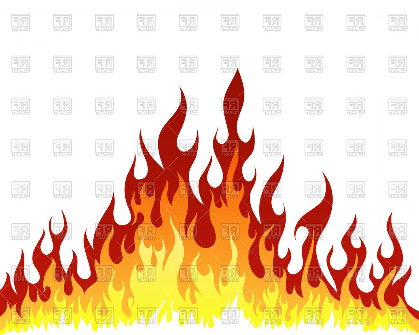 Fire Clip Art Vector: Fire Flame Background Vector Clipart