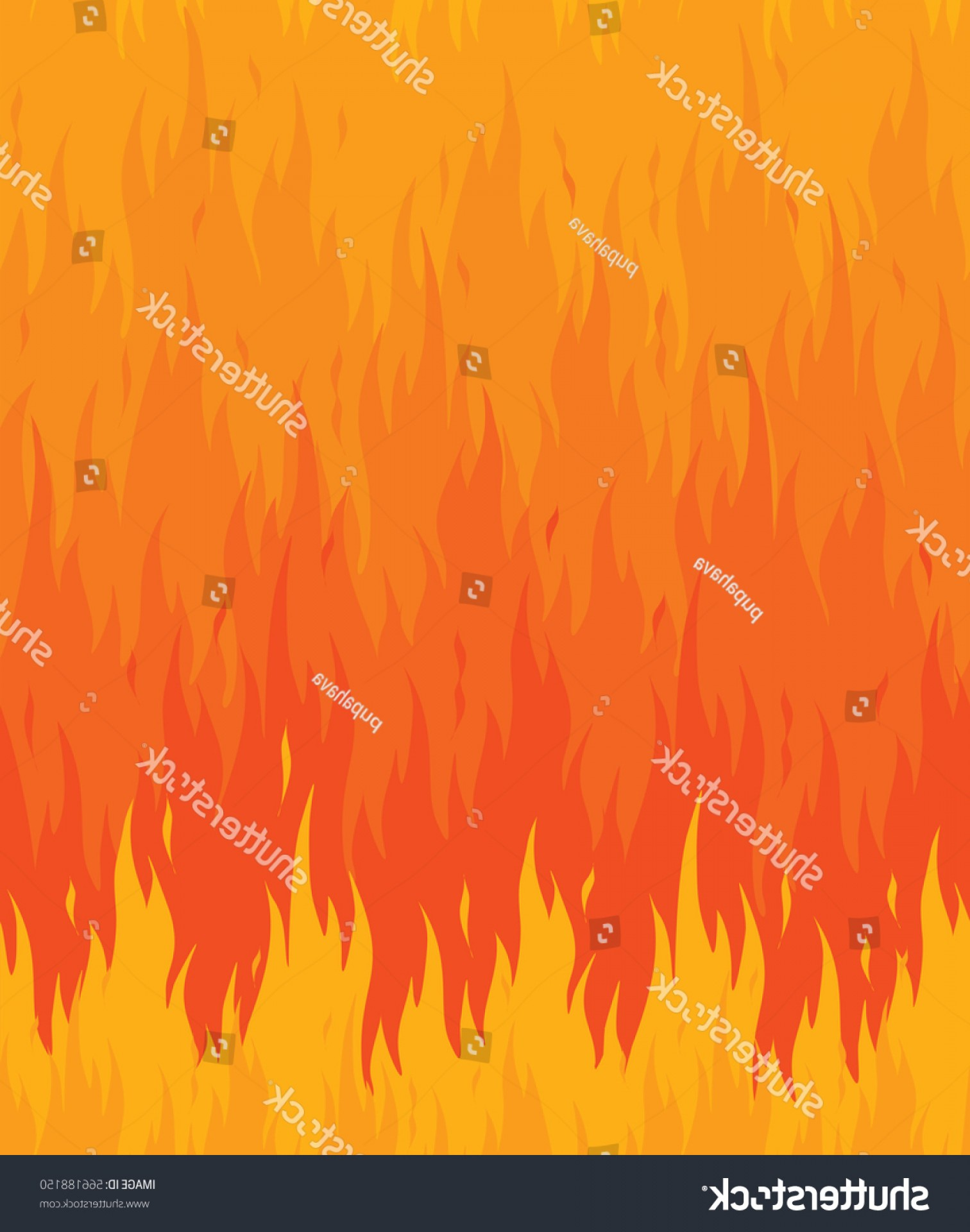 Vector Flame Stick Pattern: Fire Flames Pattern Background Flat Seamless