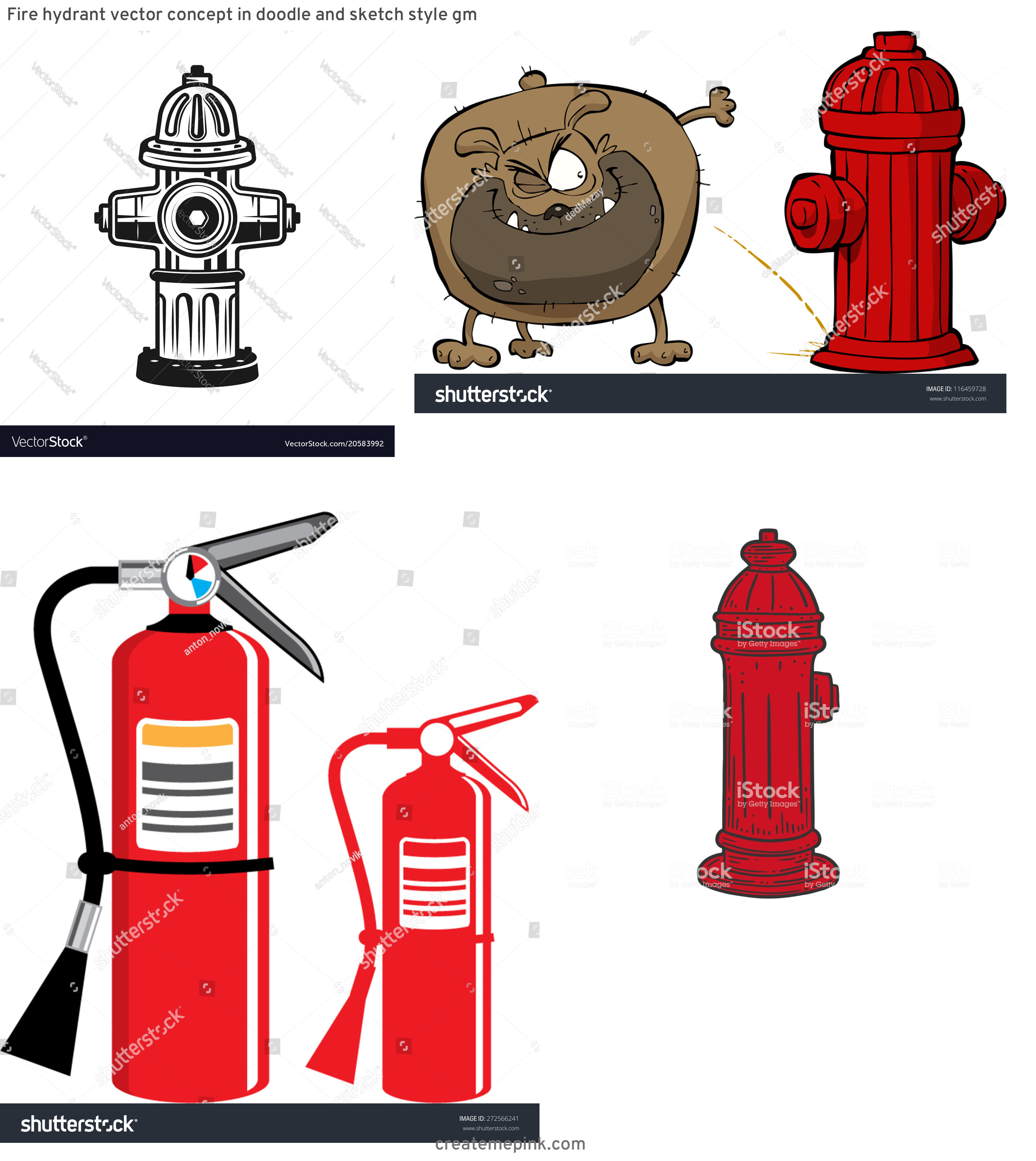 Fire Hydrant Vector Clip Art: Fire Hydrant Vector Concept In Doodle And Sketch Style Gm