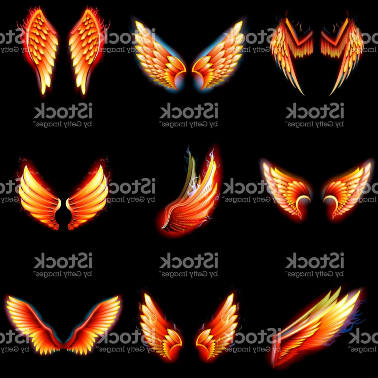 Torn Angel Wings Vector: Fire Wings Phoenix Vector Winged Angel Burning Fantasy Bird Fiery Wingspan Of Gm