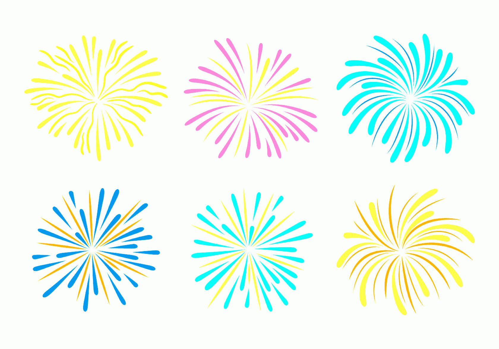 Firework Engraving Vector: Fireworks With White Background Vector Collection
