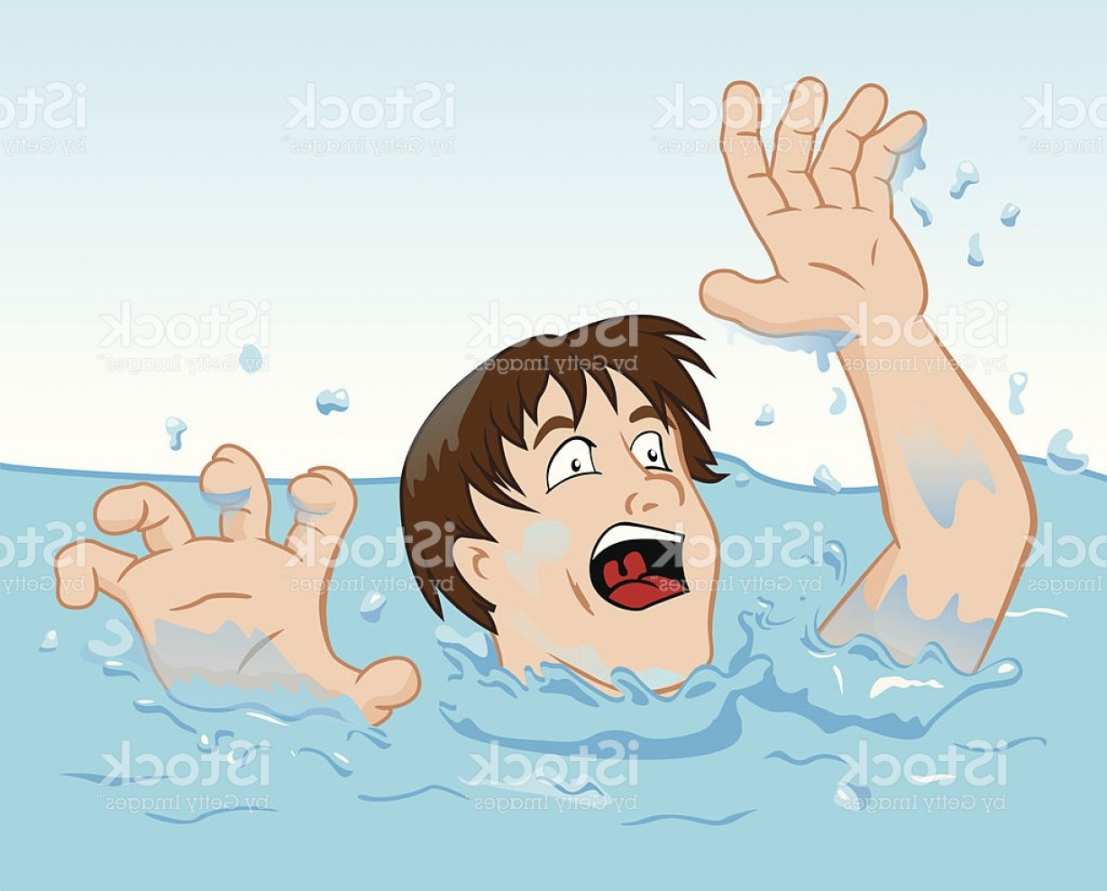 Man Drowning Vector: First Aid Drowning Person Struggling In The Water Gm