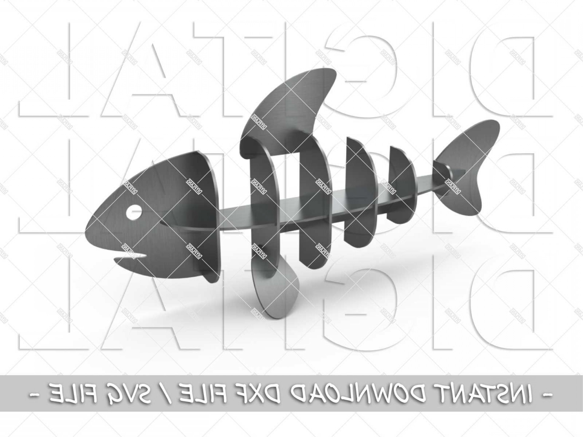 Plasma Art Fishing Vector Files: Fish Dxf File Cnc Plasma Laser Waterjet