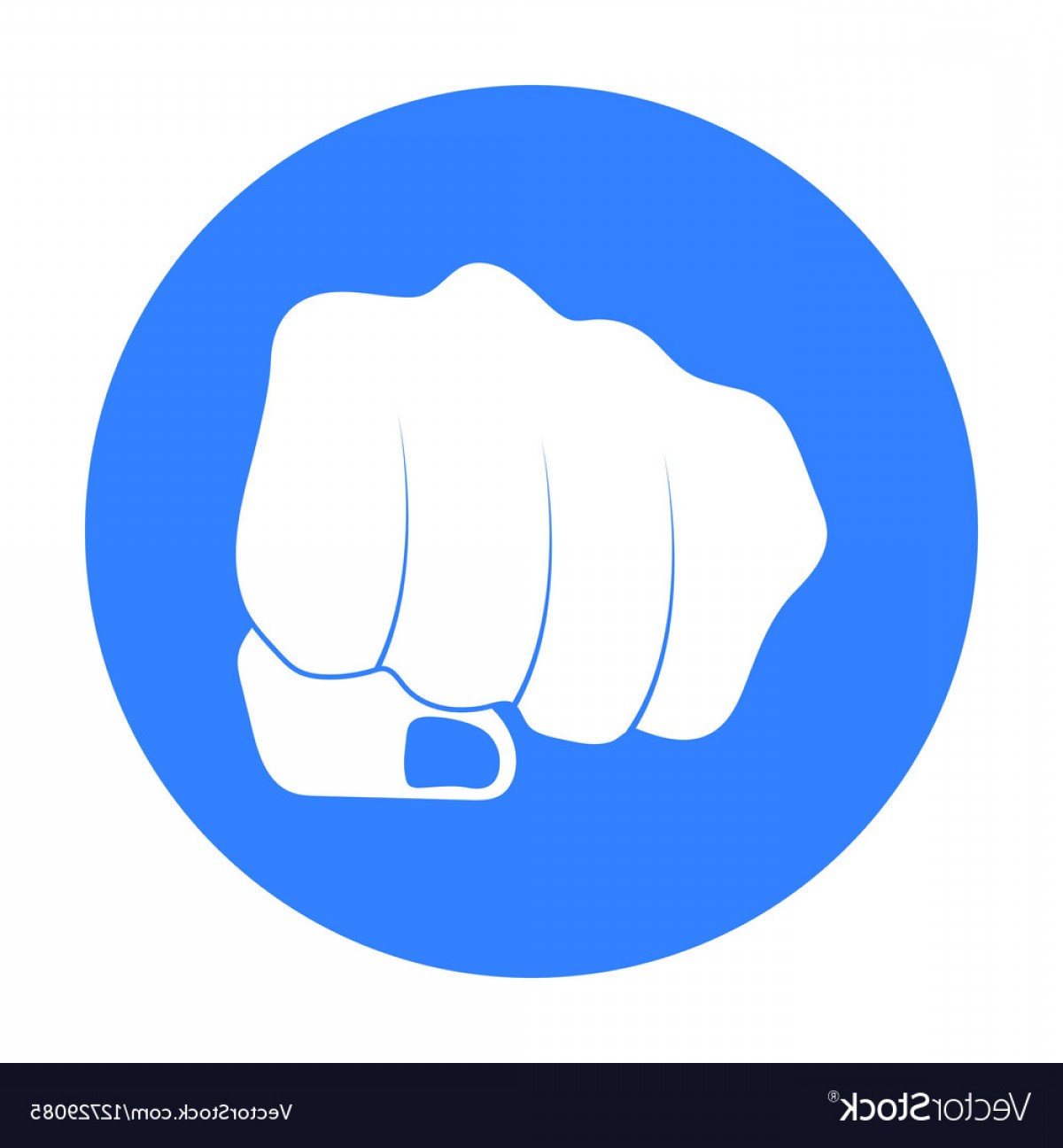 Emoji Fist Bump Vector Graphic: Fist Bump Icon In Black Style Isolated On White Vector