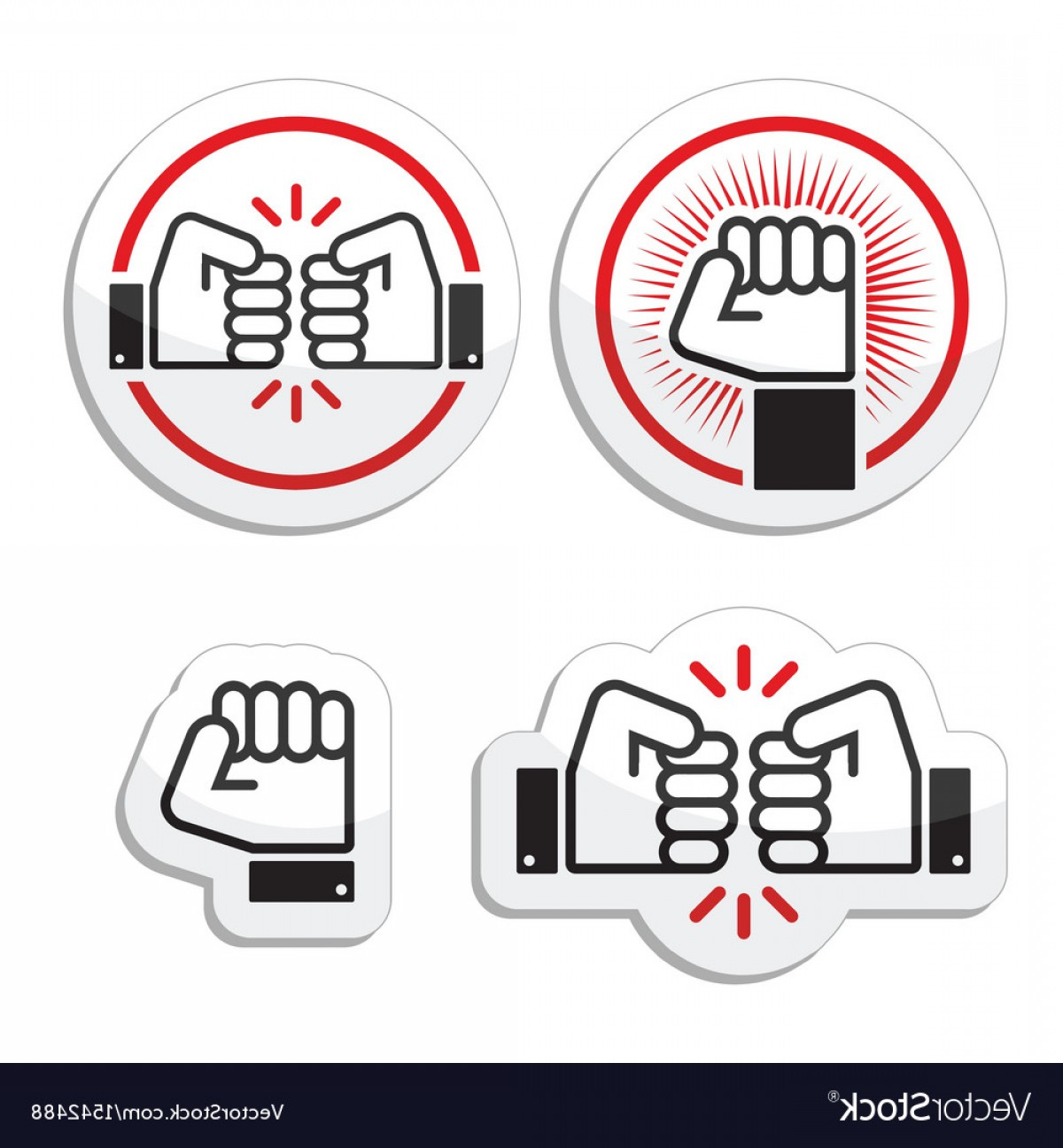 Emoji Fist Bump Vector Graphic: Fist Fist Bump Icons Set Vector