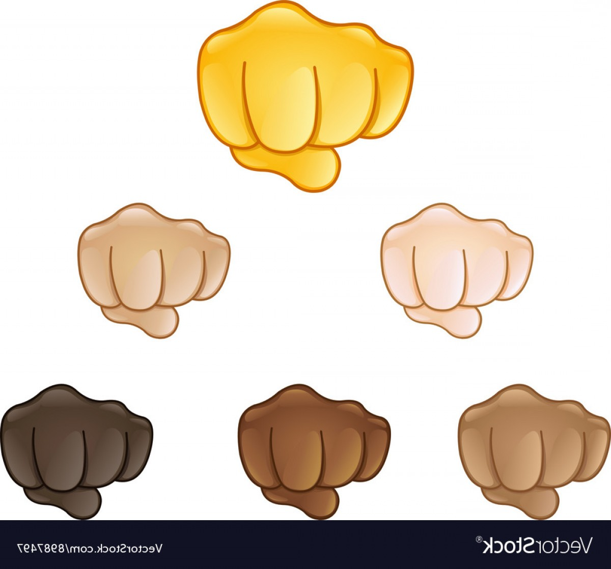 Emoji Fist Bump Vector Graphic: Fisted Hand Sign Emoji Vector