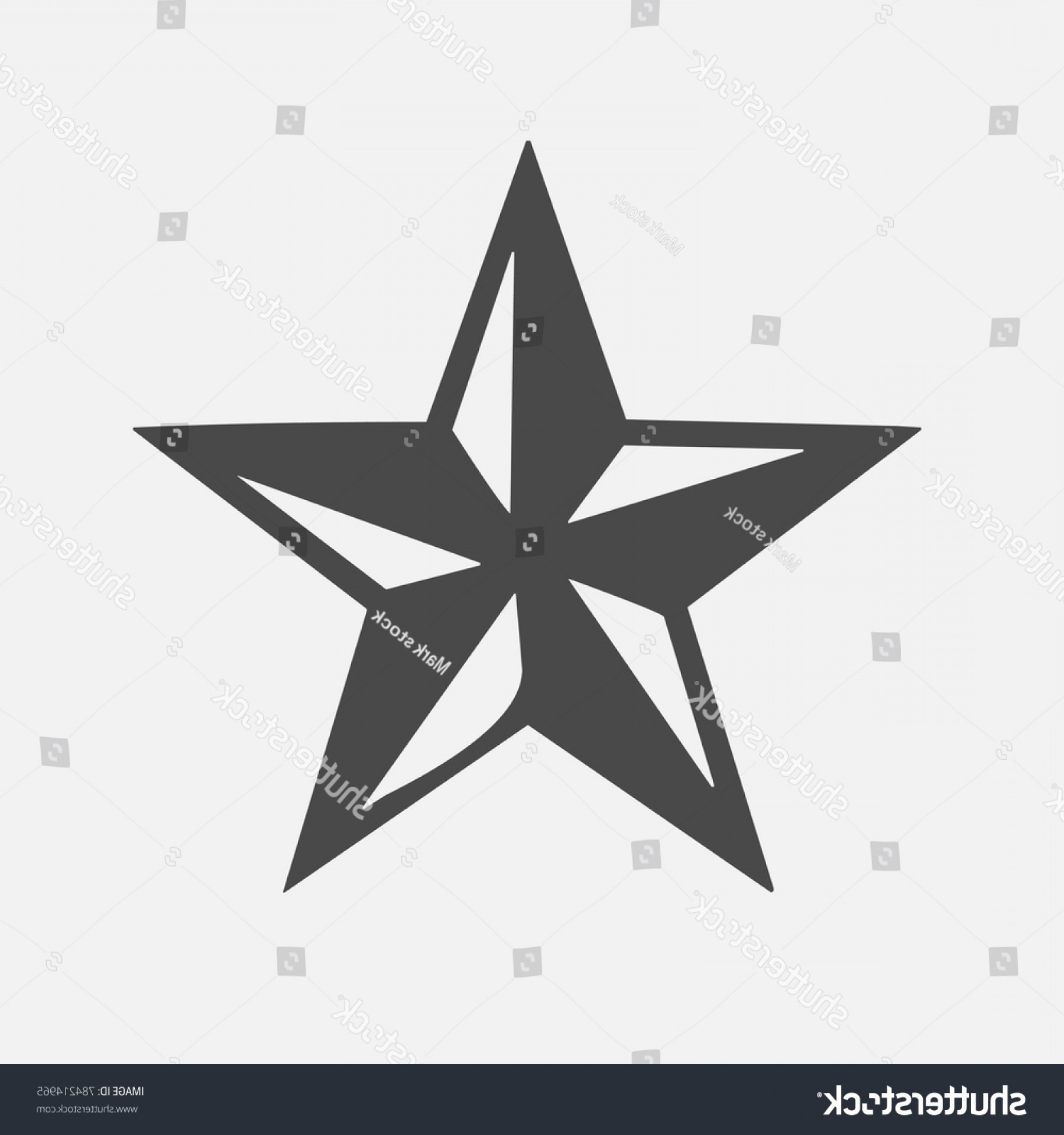 Nautical Star Vector Logo: Five Star Symbol D Space Feature